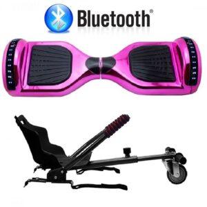 Hoverboard con silla rosa metalizado - Gc Distribuciones