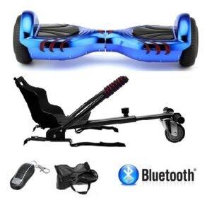 Hoverboard Con Silla 6.5 Pulgadas Azul Metalizado Pro Edition